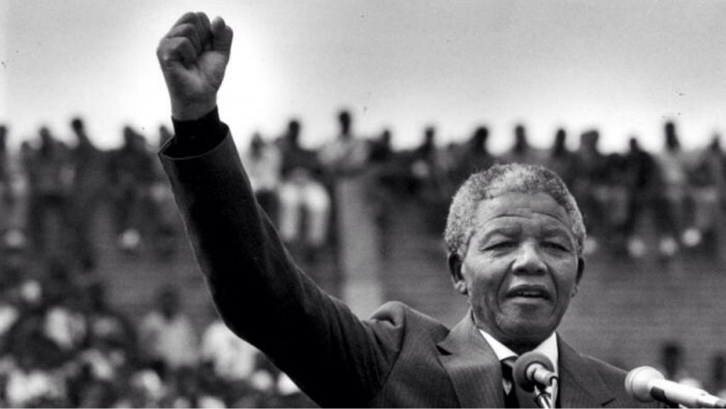 Mandela showing leadership